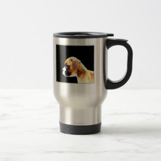 Boxer puppy profile travel mug
