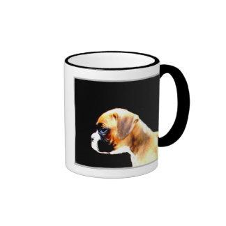 Boxer puppy profille mug