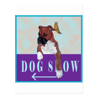 Boxer Puppy Sign Postcard