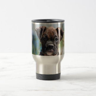 Boxer puppy stainless steel travel mug