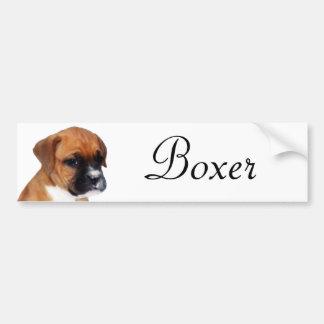 Boxer puppy sticker bumper sticker