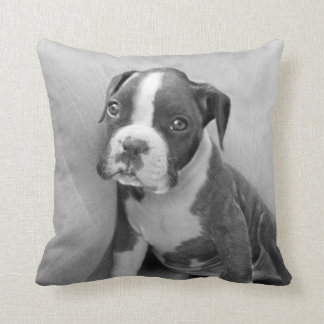 Boxer Puppy Throw Pillow
