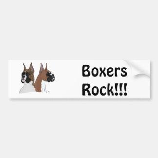 Boxer ROCK!!! Bumper Sticker Car Bumper Sticker