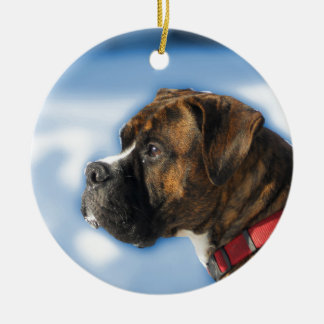 boxer round ceramic decoration