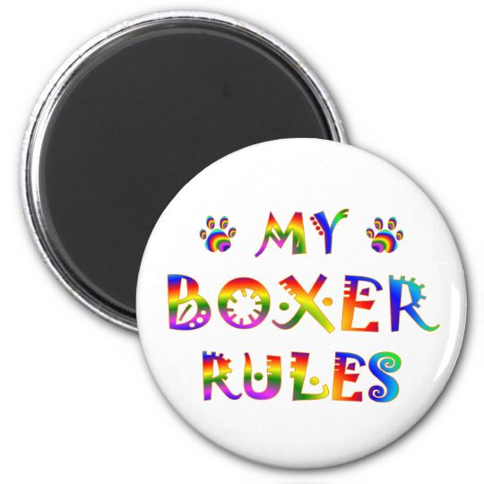 Boxer Rules Fun Magnet
