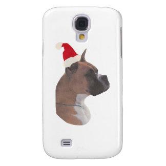 Boxer Santa Hat Galaxy S4 Case