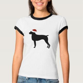 Boxer Santa Hat T-Shirt