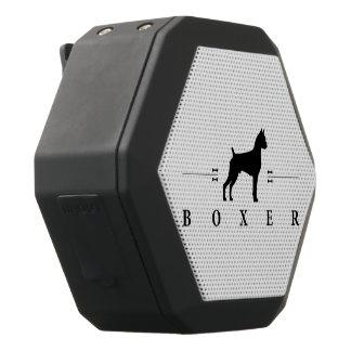 Boxer silhouette -2- black boombot rex bluetooth speaker