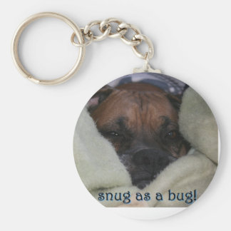 Boxer:  Snug as a Bug Basic Round Button Key Ring