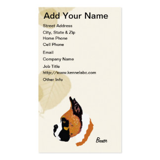 Boxer ~ Tan Leaves Motiff Pack Of Standard Business Cards