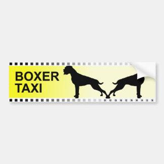BOXER TAXI BUMPER STICKER