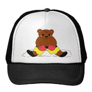 Boxer Teddybear in Yellow Cap