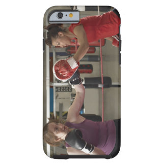 Boxer training with coach in gym tough iPhone 6 case