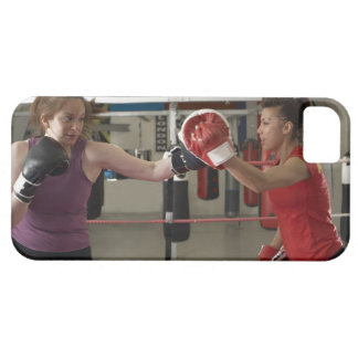 Boxer training with coach in gym iPhone 5 case