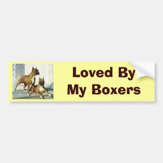 Boxer Vintage Bumper Sticker