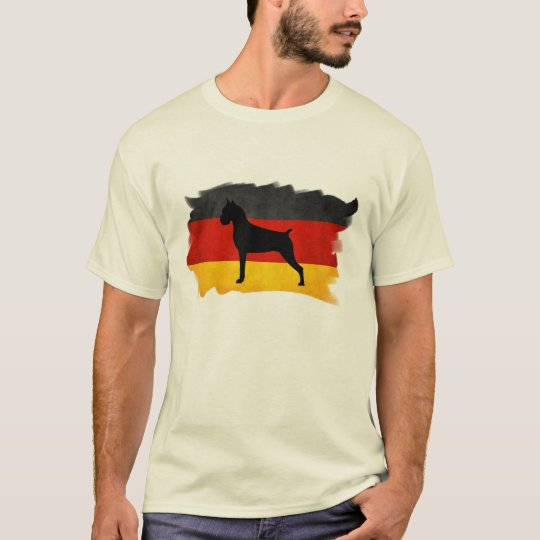 Boxer with German Flag T-Shirt