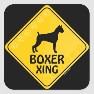 Boxer Xing Square Sticker