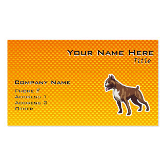 Boxer; Yellow Double-Sided Standard Business Cards (Pack Of 100)