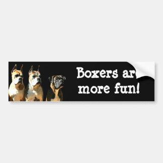 Boxers are more fun bumper sticker