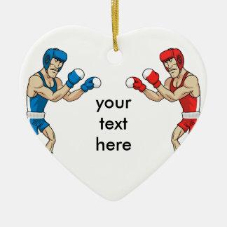 boxers ceramic heart decoration