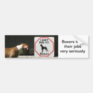 Boxers Dont Dial 911 Bumper Sticker