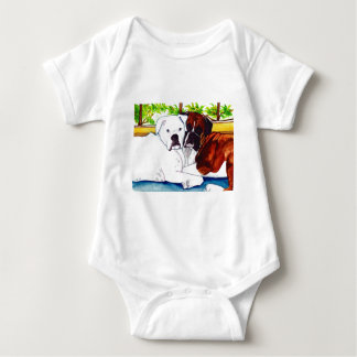 Boxers Fawn and White Baby Bodysuit