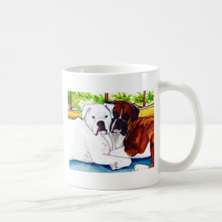 Boxers Fawn and White Mug