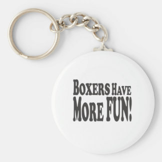 Boxers Have More Fun! Basic Round Button Key Ring