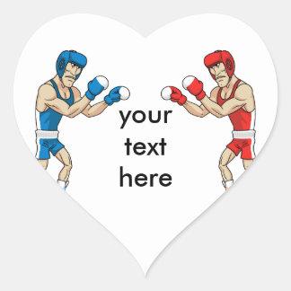 boxers heart sticker