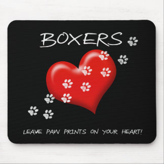 Boxers Leave Paw Prints Mouse Mat