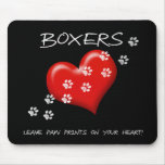 Boxers Leave Paw Prints Mouse Pads