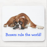 Boxers Rule The World Mousepad