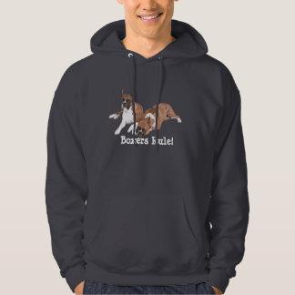Boxers Rule Unisex Hooded Sweatshirt