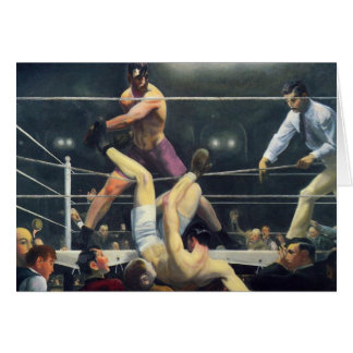 Boxing art card