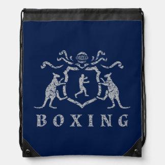 Boxing Blazon Drawstring Backpack