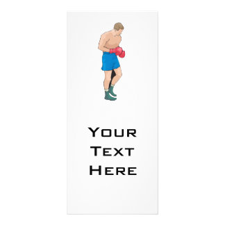 boxing boxer vector graphic personalised rack card