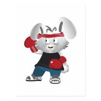 Boxing Bunny Postcard