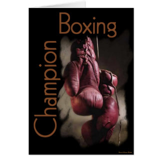 Boxing Champion Card