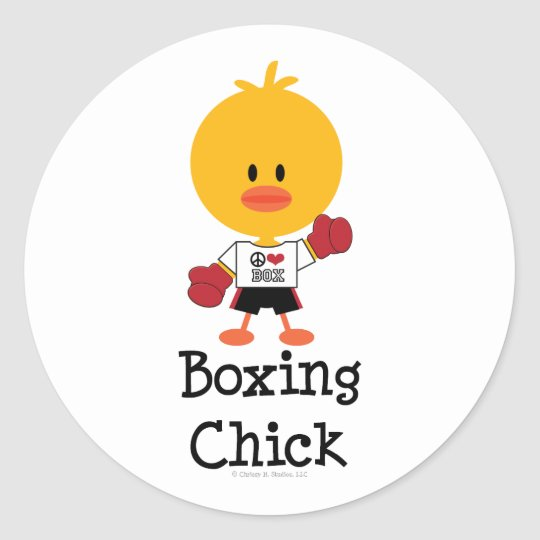 Boxing Chick Stickers