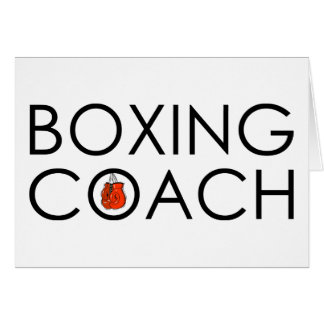 Boxing Coach Cards