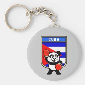 Boxing Cuba Panda Basic Round Button Key Ring