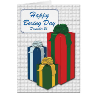 Boxing Day Greeting Card