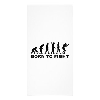 Boxing fight Evolution Photo Card