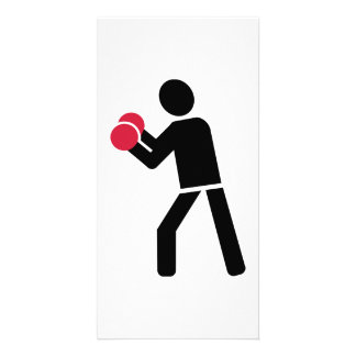 Boxing fight photo card template
