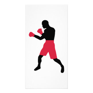 Boxing fighter customized photo card