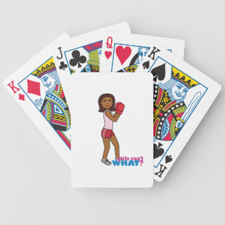 Boxing Girl Bicycle Card Deck
