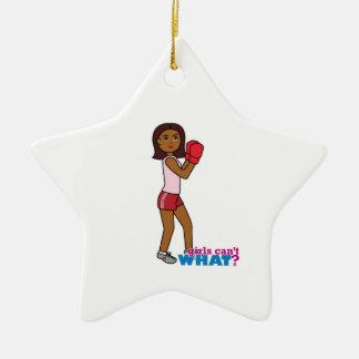Boxing Girl Ceramic Star Decoration