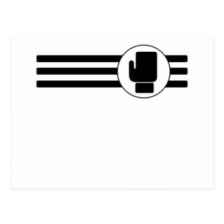 Boxing Glove Stripes Post Cards