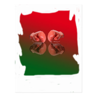 Boxing Glove With Background color Post Cards