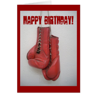 Boxing Gloves Birthday Card